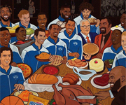 NBA players on Thanksgiving