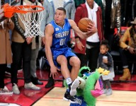 Aaron Gordon sits in the air and other great pictures from Slam Dunk Contest