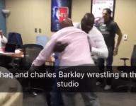 TNT wrestling match: Charles Barkley vs. Shaquille O'Neal