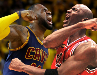 The players with the most 40-point games in the postseason