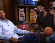 Kevin Garnett and Rasheed Wallace test out cuss button on TNT
