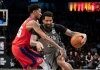 Wilson Chandler clashes with Christian Wood
