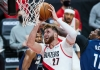 Jusuf Nurkic attempts a dunk