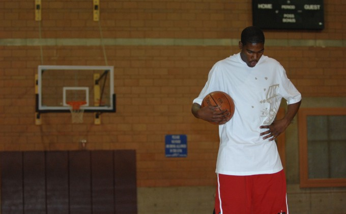 Kevin Durant could not bench-press 185 pounds one time at NBA combine