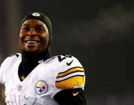 NFL star Le'Veon Bell burned a Kyrie Irving jersey after trade