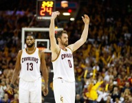 Kevin Love may start at center, relegating Tristan Thompson to bench