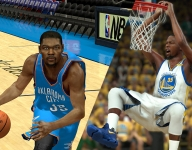 Kevin Durant in videogames through the years