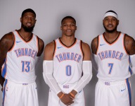 What NBA trio will lead the league in combined scoring next season?