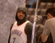 Carmelo Anthony's Jordan Brand hoodies sold out in seven minutes