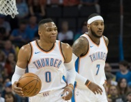 Moke Hamilton of OKCThunderWire.com on how Westbrook, George, Melo fit, 2017-18 goals and the trio's future