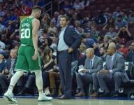 Celtics' Brad Stevens confirmed Gordon Hayward is helping the coaches