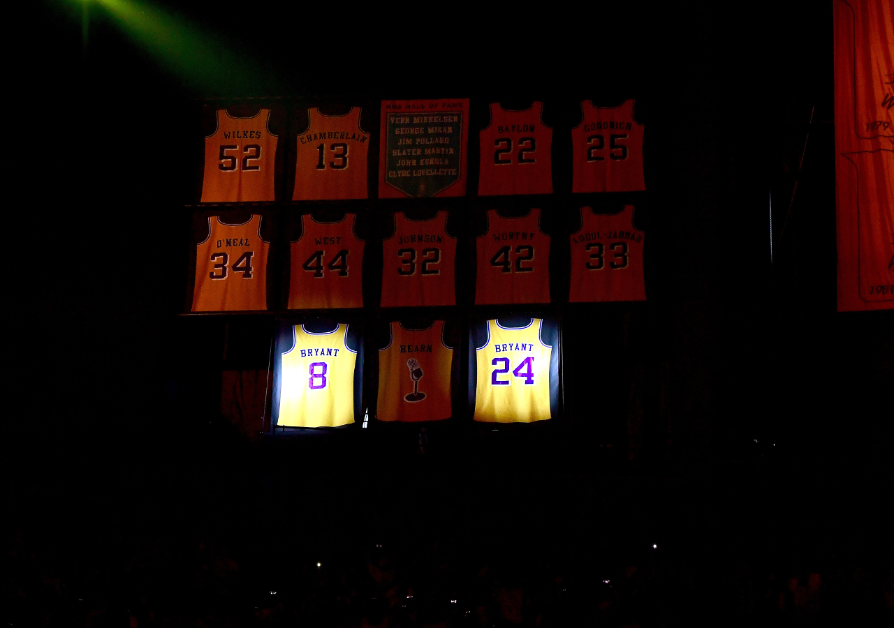 Kobe Bryant's jersey retirement in pictures