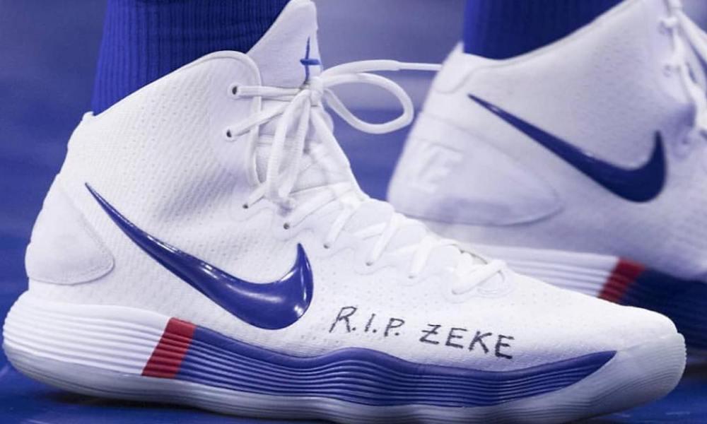 pelota Mañana aplausos  NBA sneakers of the night: Ben Simmons honors Zeke Upshaw and more    HoopsHype