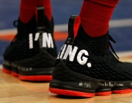 NBA sneakers of the night: LeBron sends message in NY and more