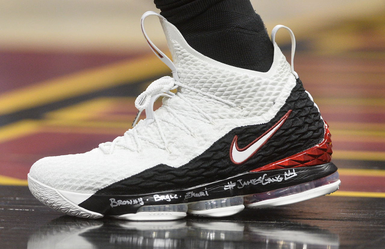 NBA sneakers of the night: LeBron pays