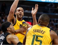 Rudy Gobert, Derrick Favors are struggling when on court at same time
