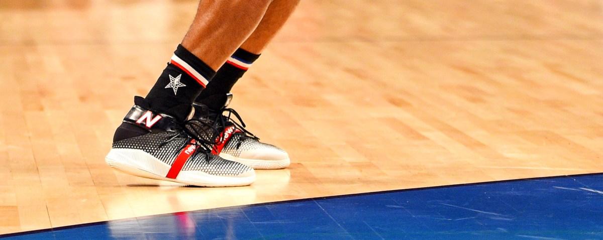 Team Lebron forward Kawhi Leonard of the Toronto Raptors shoots the ball during the 2019 NBA All-Star Game at Spectrum Center.