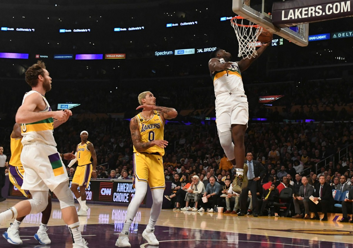 Zion Vs Lakers HoopsHype