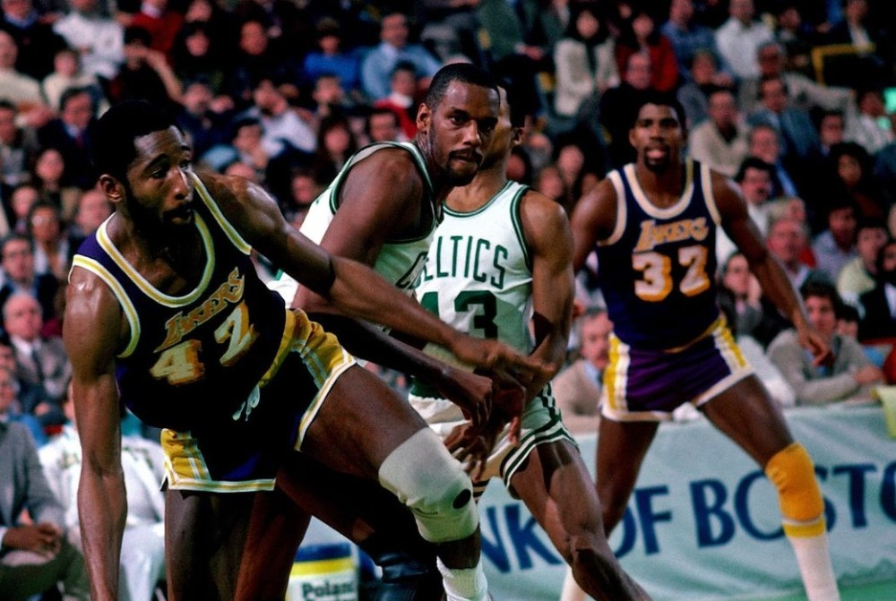 James Worthy and Cedric Maxwell