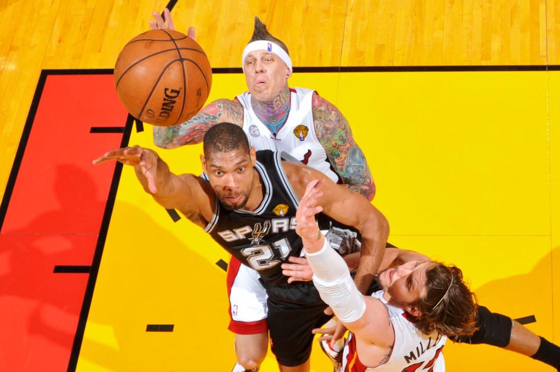 Tim Duncan vs. Miami Heat