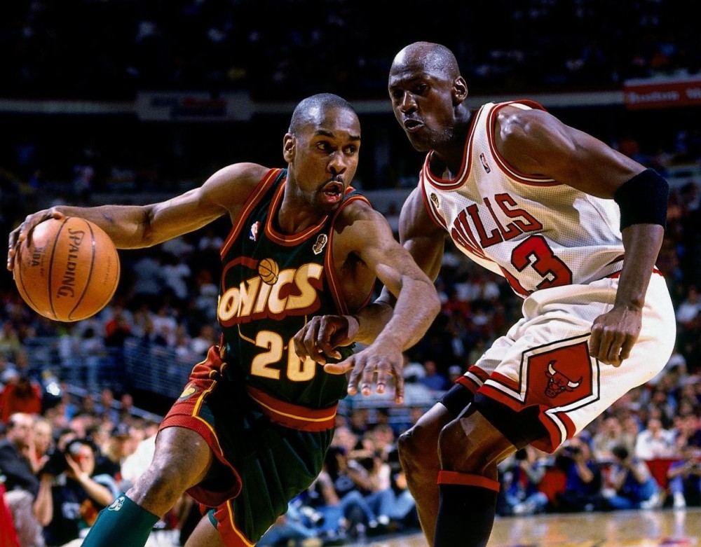 Gary Payton vs. Michael Jordan