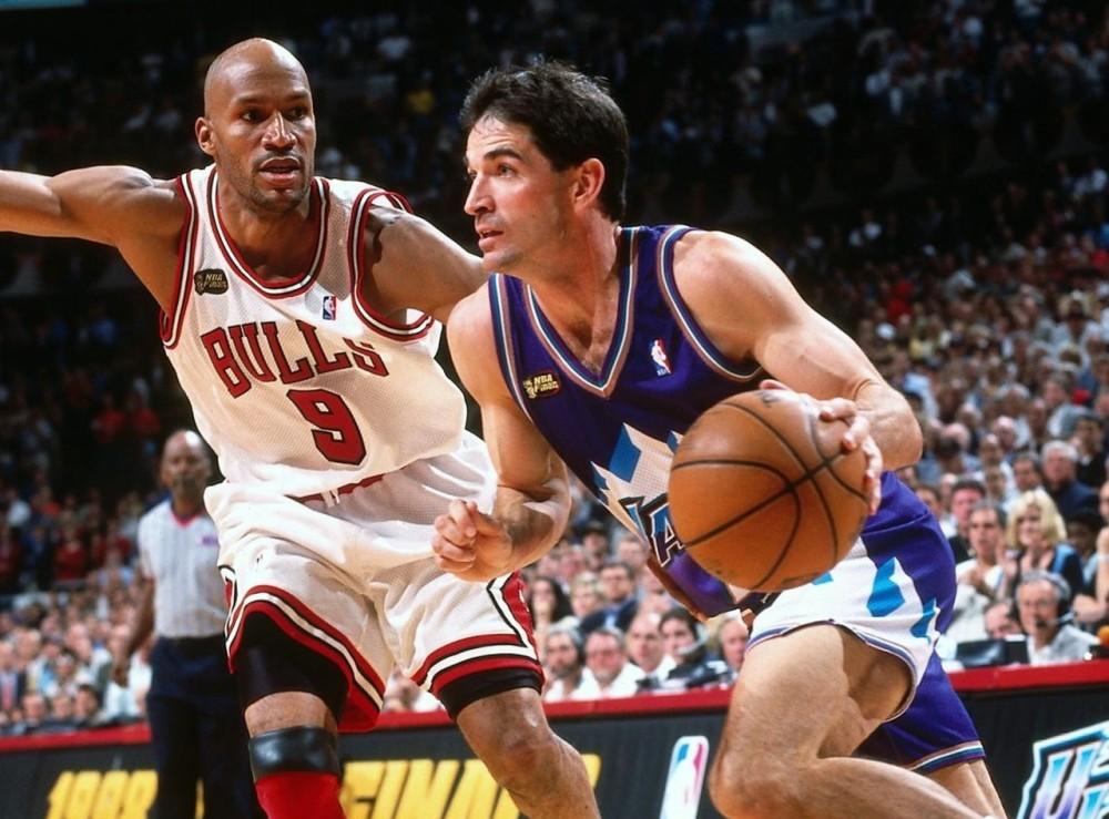 John Stockton vs. Chicago Bulls