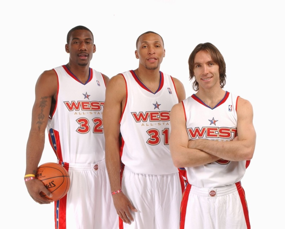 Amare Stoudemire, Shawn Marion and Steve Nash, Phoenix Suns