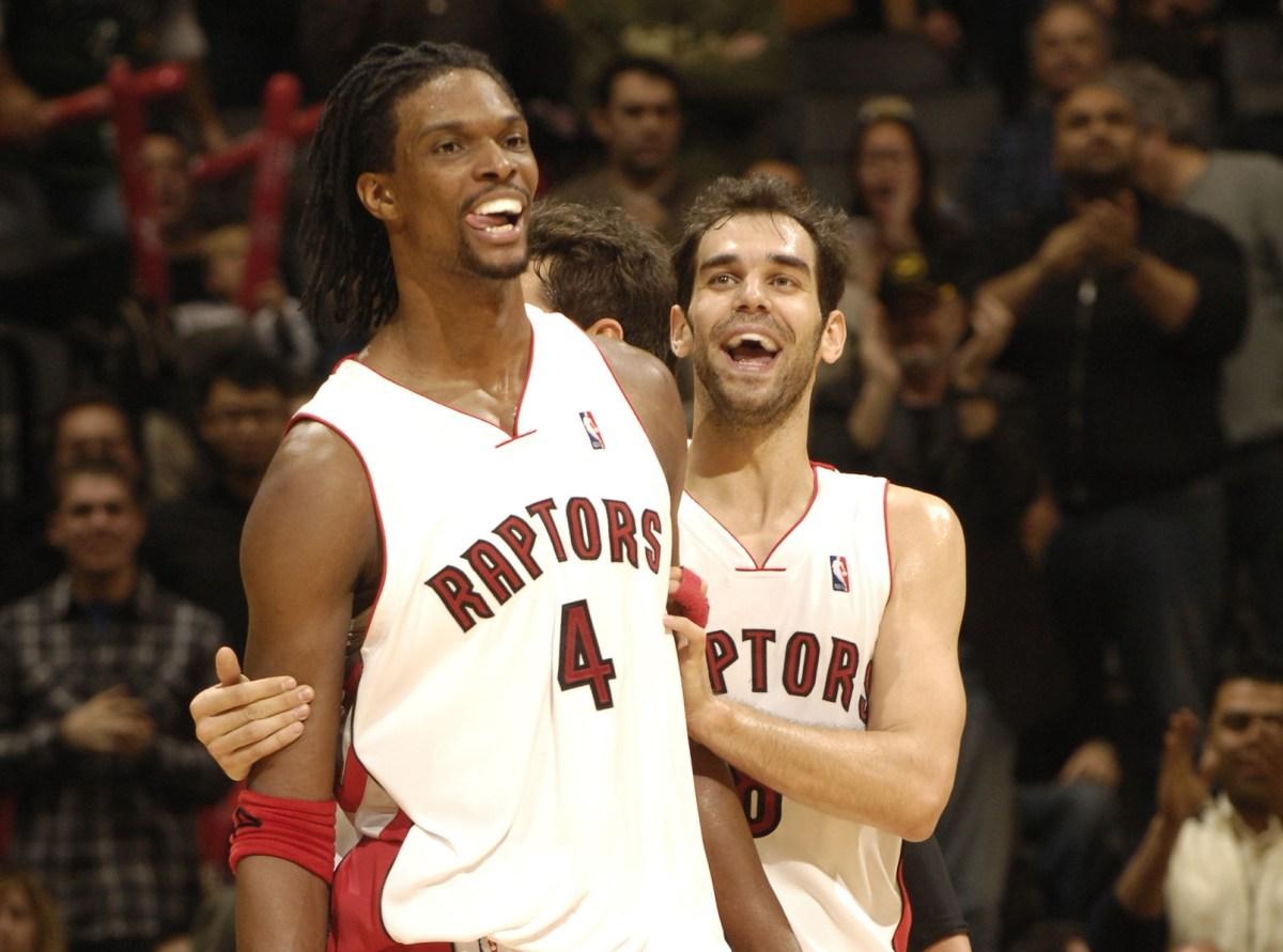 Chris Bosh and Jose Calderon, Toronto Raptors