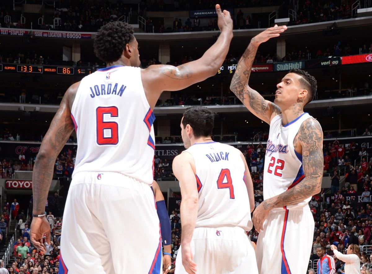 DeAndre Jordan, JJ Redick and Matt Barnes, Los Angeles Clippers