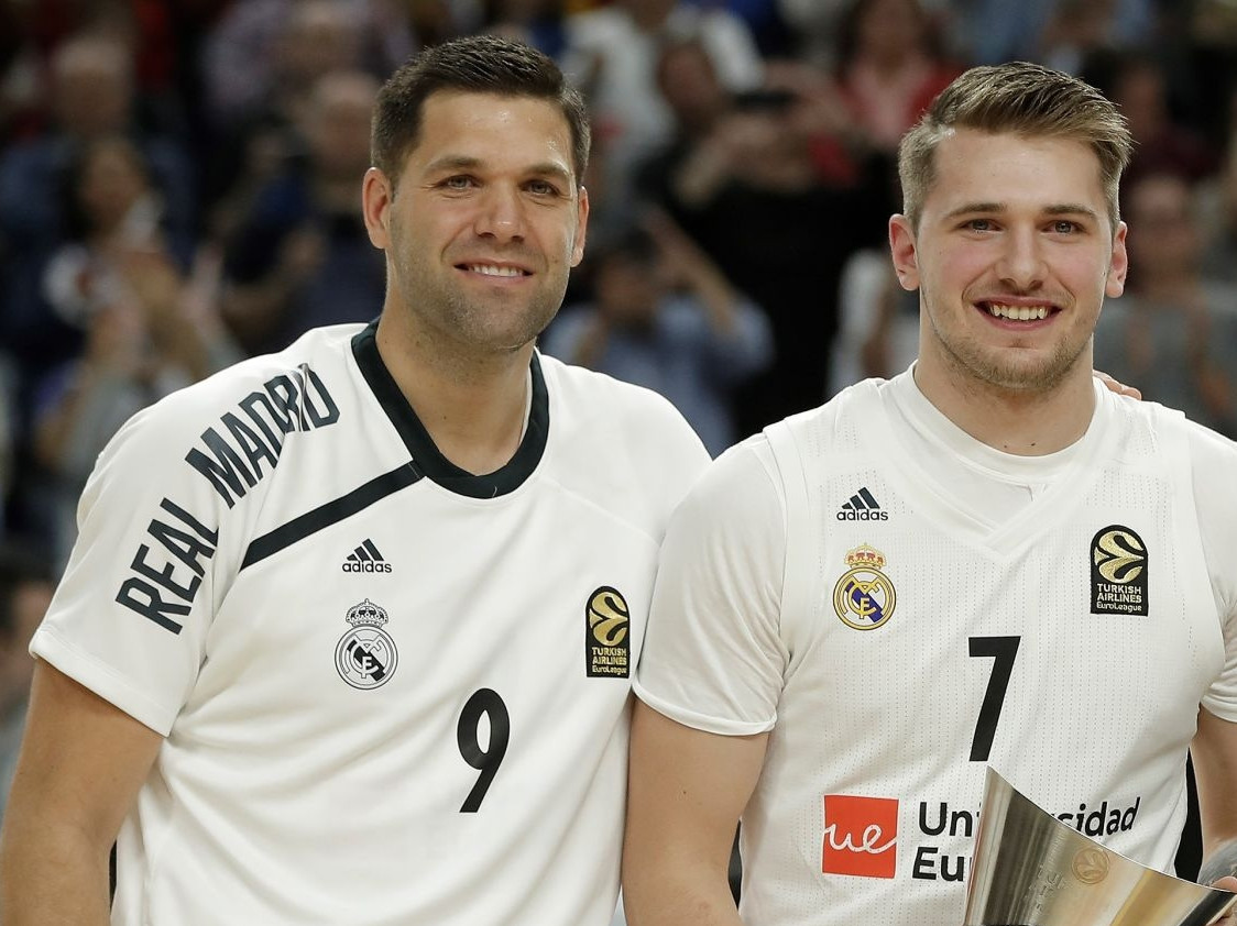 Felipe Reyes and Luka Doncic, Real Madrid