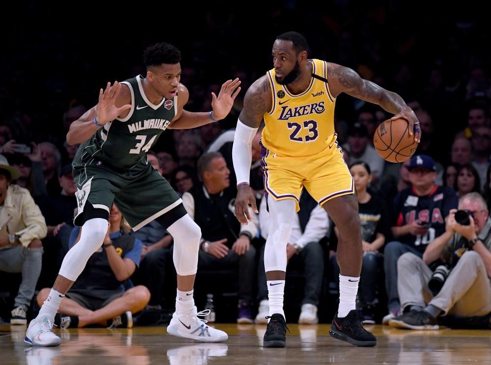 Giannis Antetokounmpo LeBron James NBA