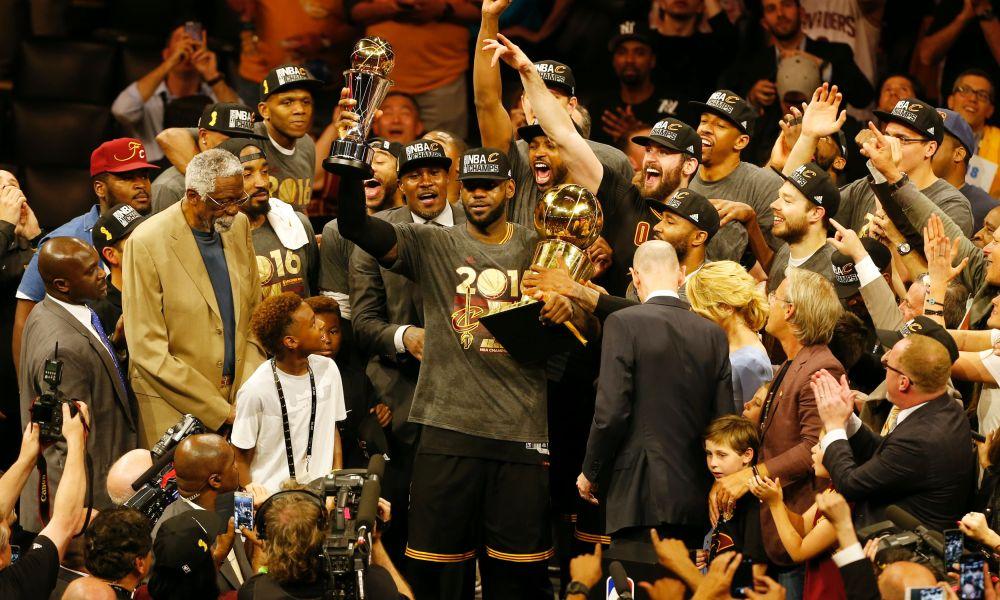 LeBron James, Cleveland Cavaliers, 2016, championship, trophy