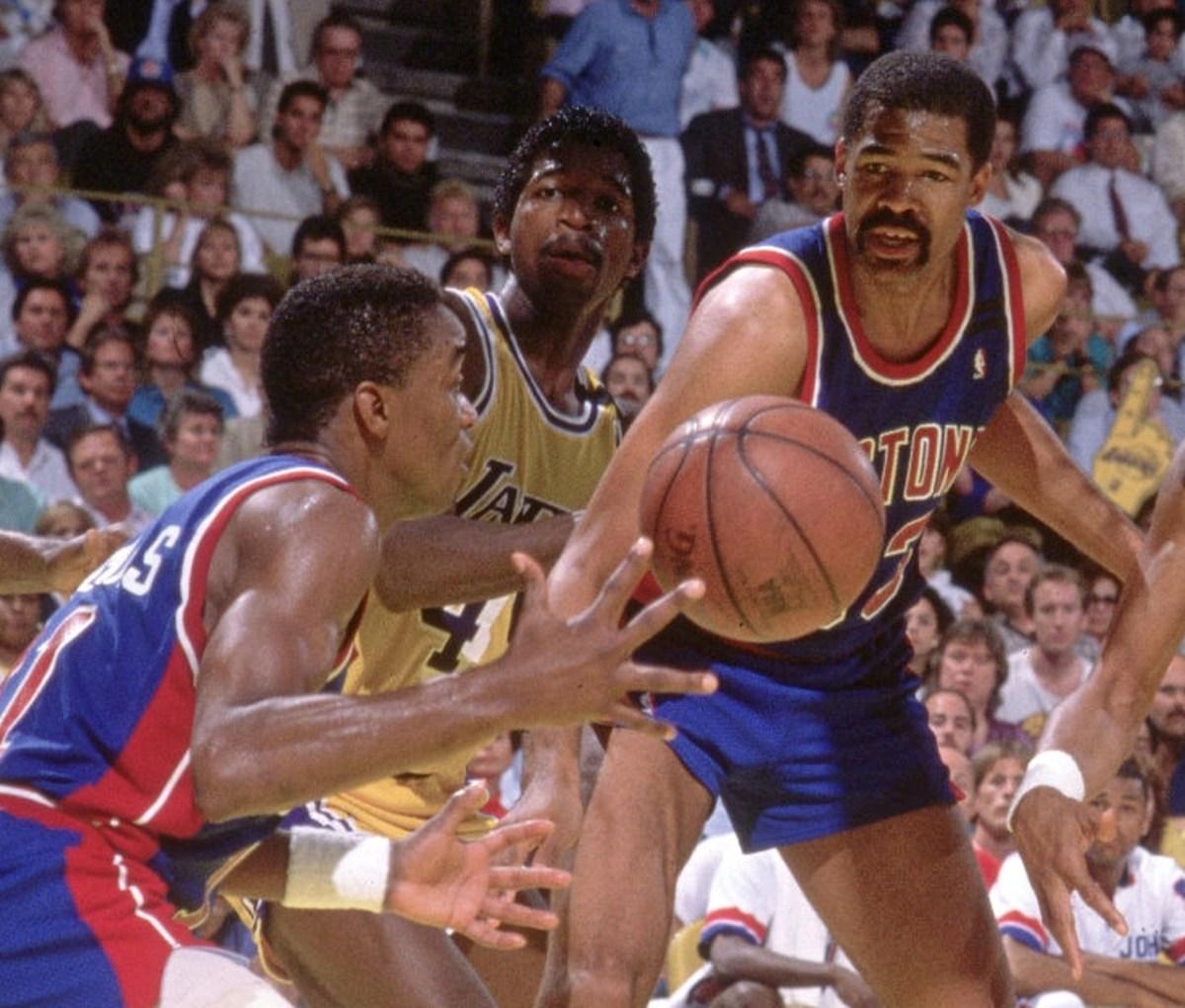 Isiah Thomas and James Edwards, Detroit Pistons