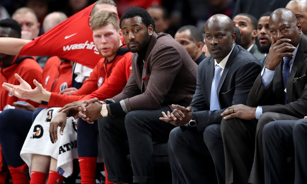John Wall Washington Wizards Injured Bench Out