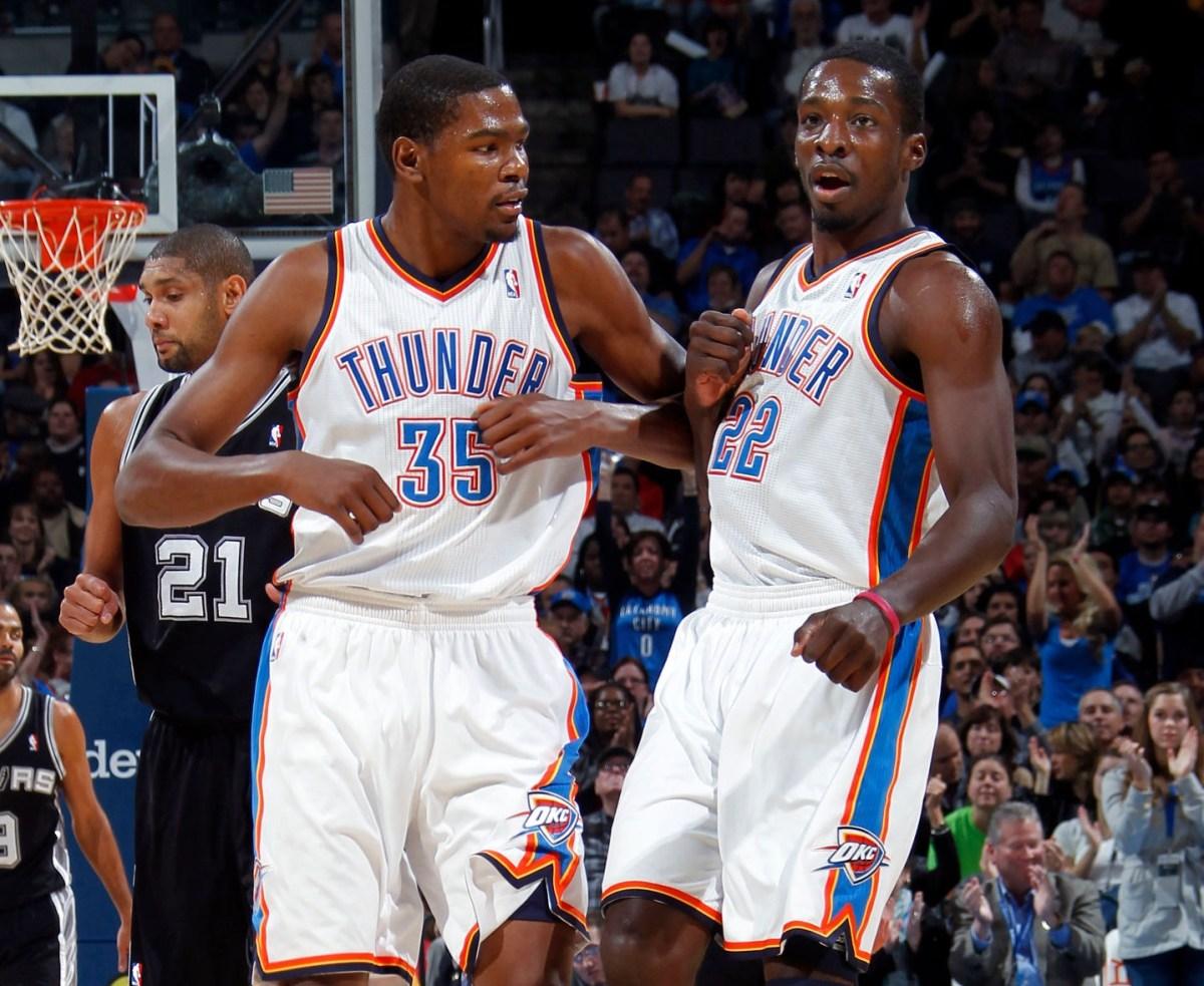 Kevin Durant and Jeff Green, Oklahoma City Thunder
