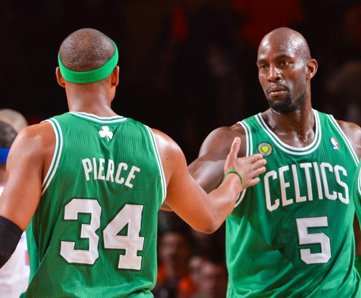 Paul Pierce and Kevin Garnett, Boston Celtics