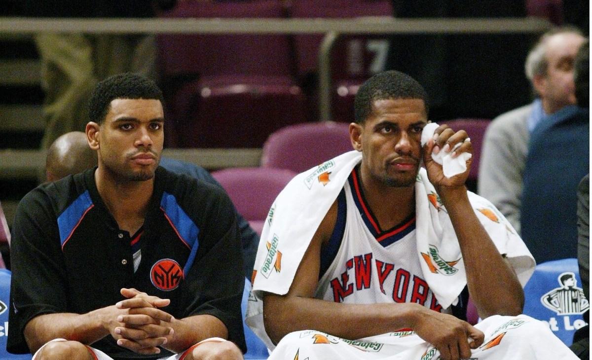 Allan Houston and Kurt Thomas, New York Knicks