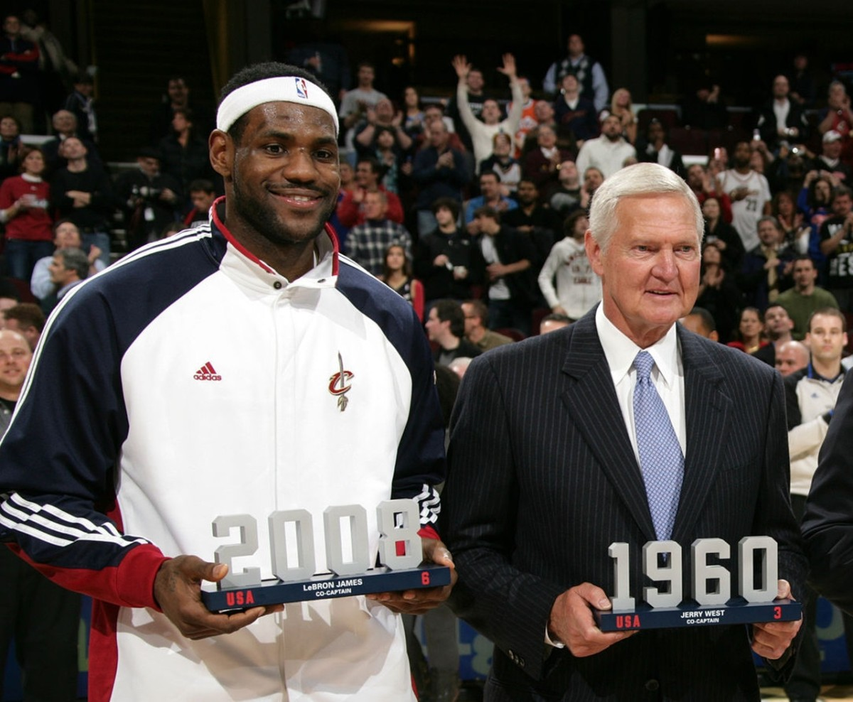 LeBron James and Jerry West, 2010