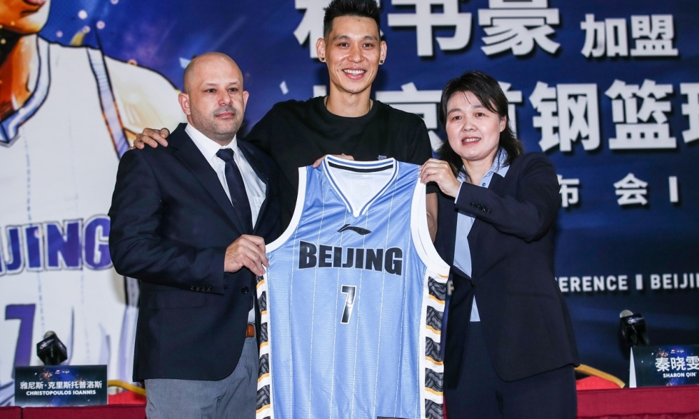 Jeremy Lin introduced as new player of the Beijing Ducks