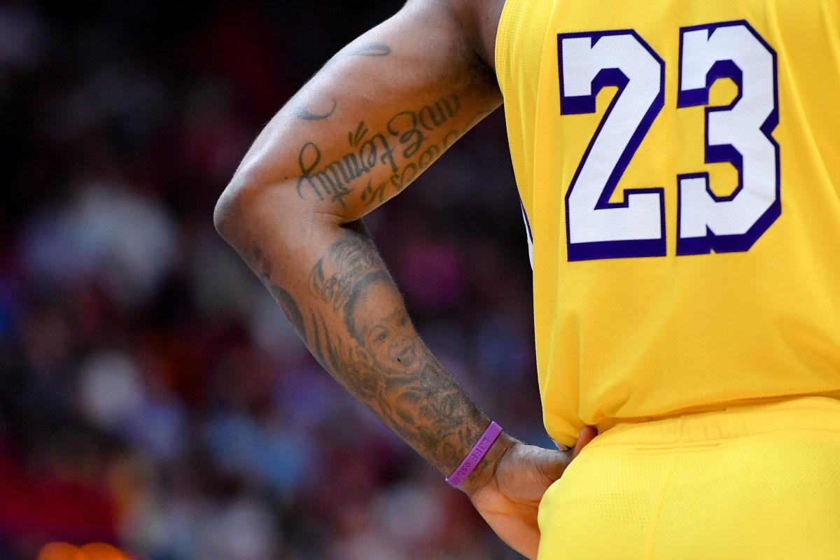 LeBron James tattoos