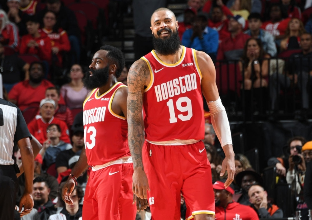 Tyson Chandler and James Harden, Houston Rockets