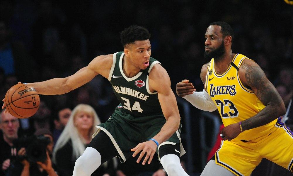 Giannis Antetokounmpo LeBron James NBA Lakers Bucks