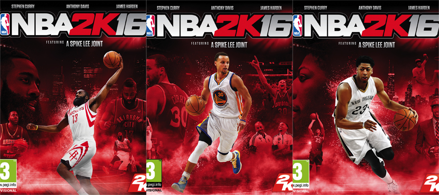 2K16, James Harden, Stephen Curry and Anthony Davis