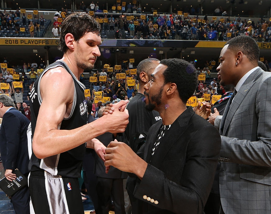 Boban Marjanovic and Mike Conley