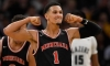 MINNEAPOLIS, MINNESOTA - JANUARY 04: Jalen Suggs #1 of Minnehaha Academy Red Hawks celebrates after a basket against the Sierra Canyon Trailblazers during the second half of the game at Target Center on January 04, 2020 in Minneapolis, Minnesota.