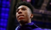 Malachi Richardson focusing his attention before a game with Sacramento