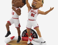 Celebrate The Last Dance with Chicago Bulls Bobbleheads featuring Scottie Pippen and Dennis Rodman