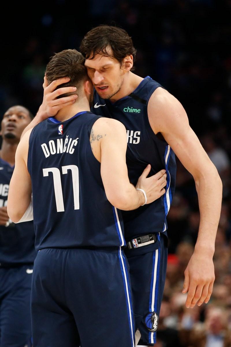 Luka Doncic and Boban Marjanovic