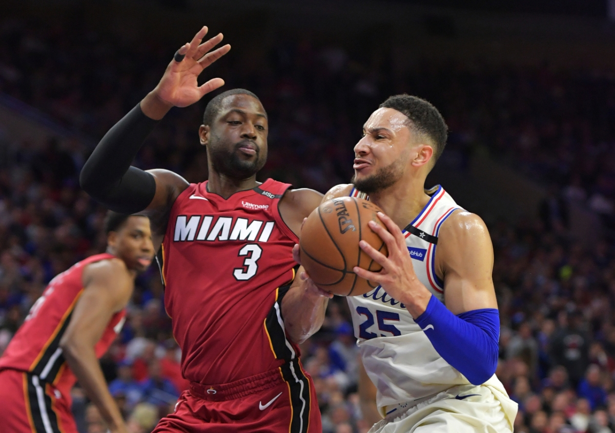 Dwyane Wade and Ben Simmons