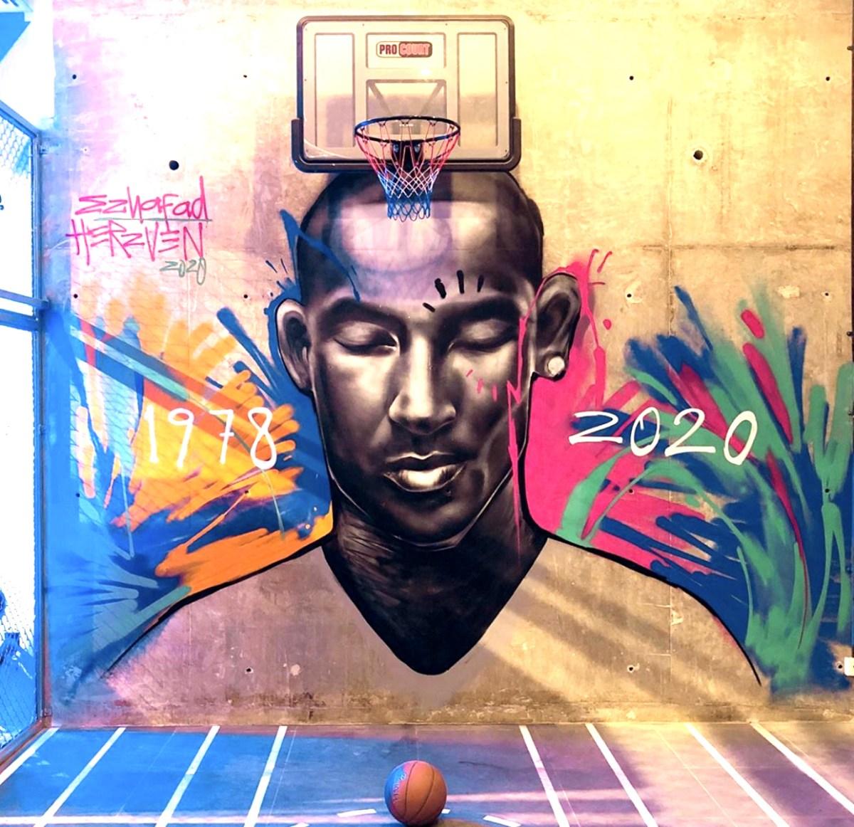 Kobe Bryant Mural Graffiti